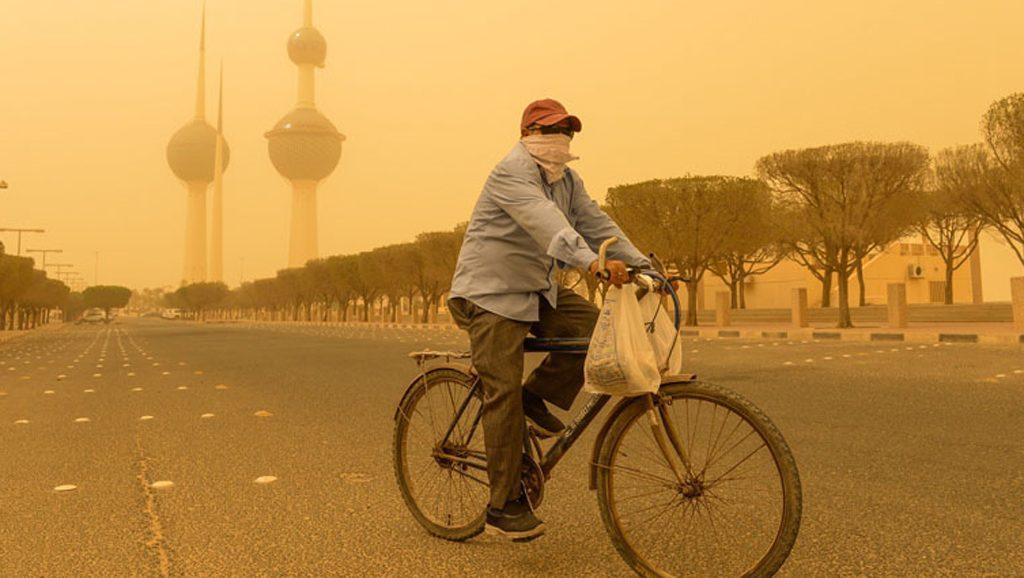 Kuwait Tormenta de arena Foto Xinhua