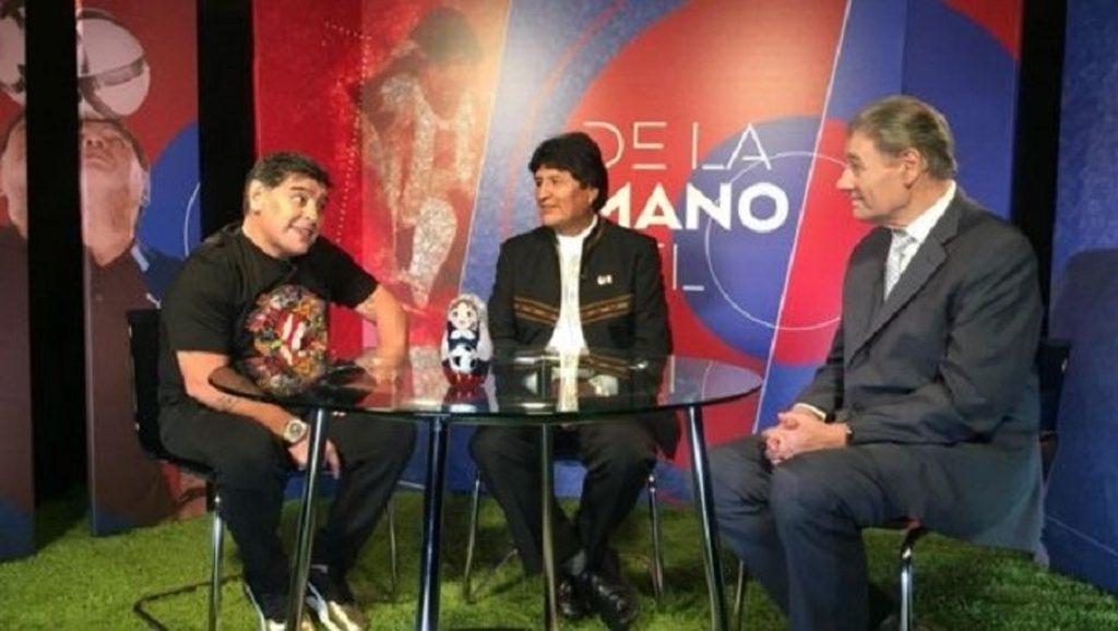 Maradona Evo Victor Hugo
