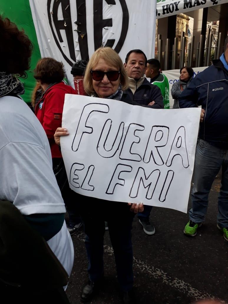Marcha jubiladxs en Argentina