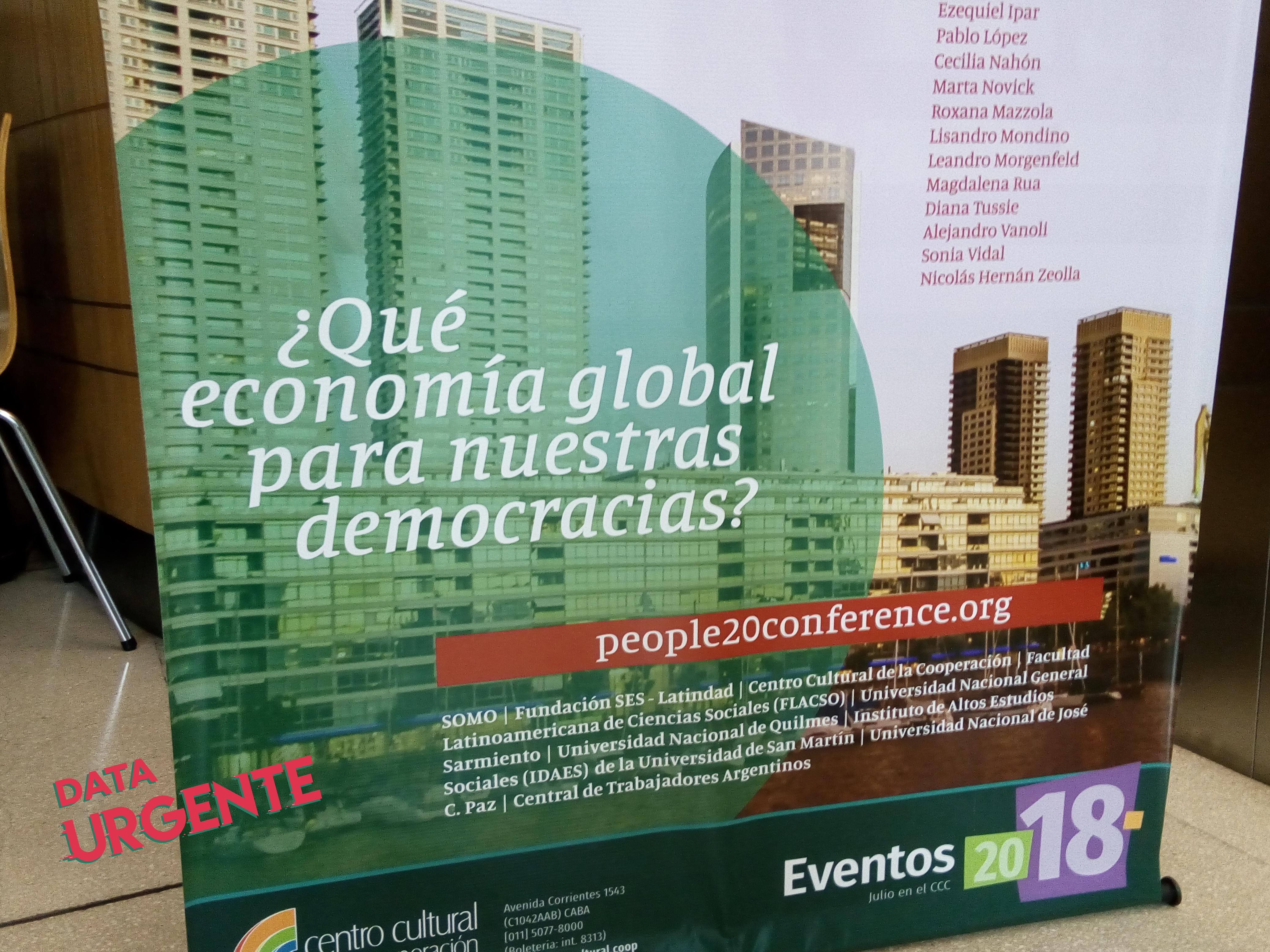 Banner del P20 - Foto Ana Claudia Aguilera - Data Urgente