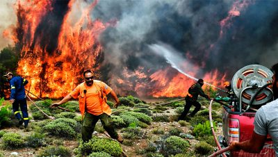 Incendio en Atica - Grecia -