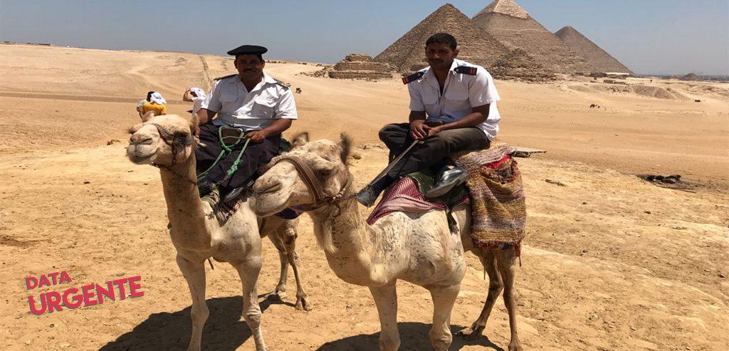 Policías en camello