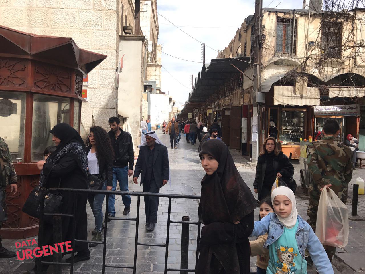 Puestos de Control en el Mercado - Damasco