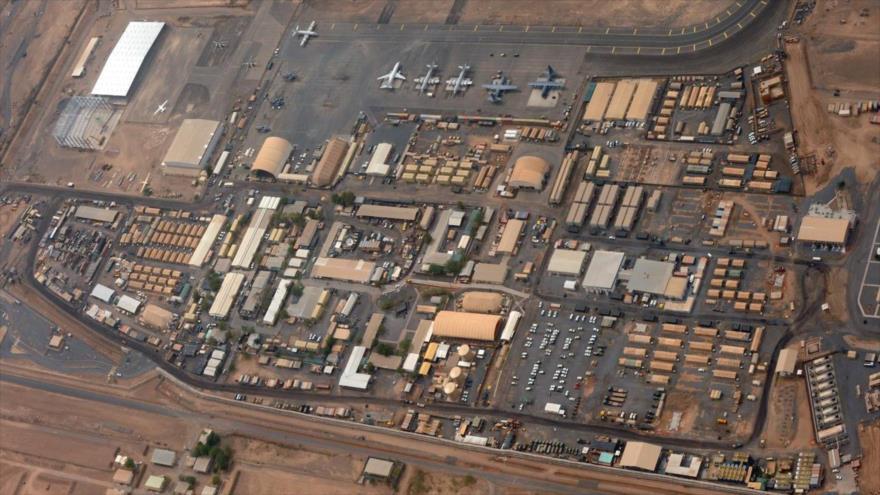 Vista aérea de una base militar en Yibuti