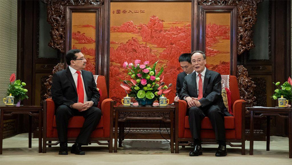 El Salvador - China - Medardo González - Wang Qishan - Fuente foto Google - Data Urgente