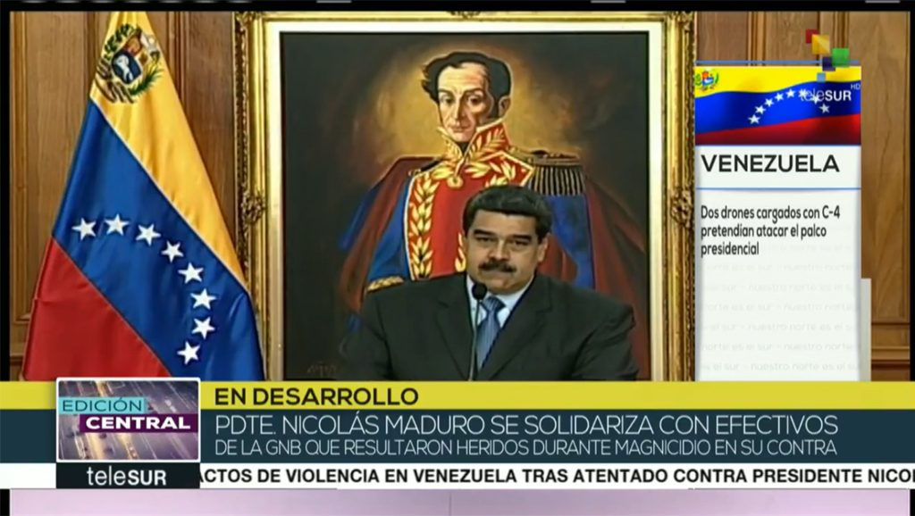 Maduro en vivo - Fuente teleSUR - Data Urgente