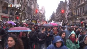 Protesta de universidades - Buenos Aires - Foto fuente Hispan TV - Data Urgente