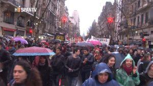 Protesta de universidades - Buenos Aires - Foto fuente Hispan TV - Data Urgente