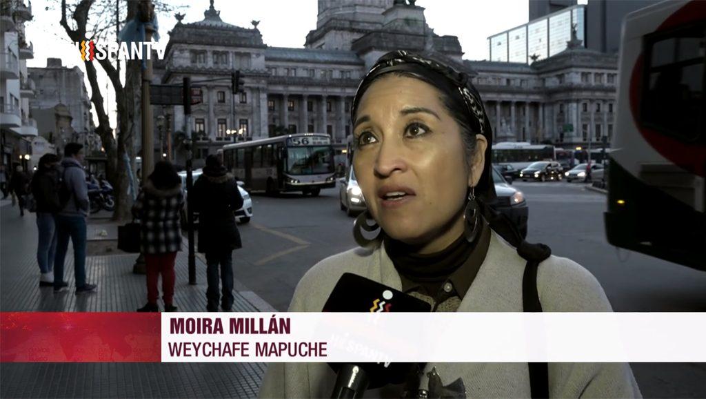 Weichafe Moira Millán - Foto fuente Hispan TV - Data Urgente