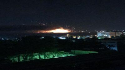 Ataque aéreo a Damasco Siria - Fuente foto Tamara Lali - Frente CEP - Data Urgente
