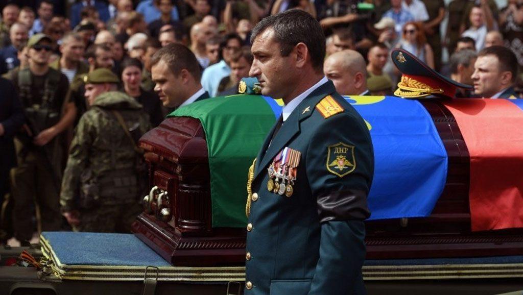 Funeral de Alexánder Zajárchenko - Lider sesinado de Donetsk - Fuente foto web - Data Urgente