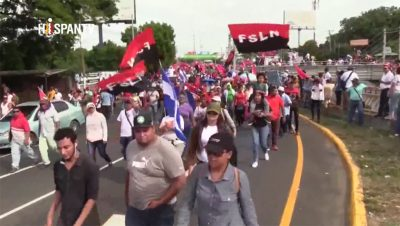 Marcha en Nicaragua - Foto fuente Hispan TV - Data Urgente