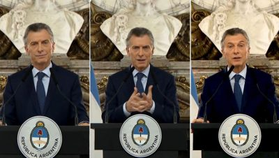 Mauricio Macri - Discurso - Crisis Argentina - Fuente foto web - Data Urgente