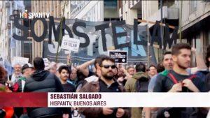 Protestas por TELAM - Argentina - Fuente foto Hispan TV - Data Urgente