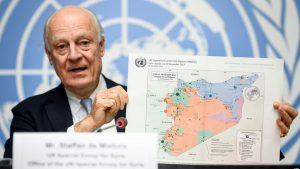 Staffan de Mistura - ONU - Fuente AFP - Data Urgente