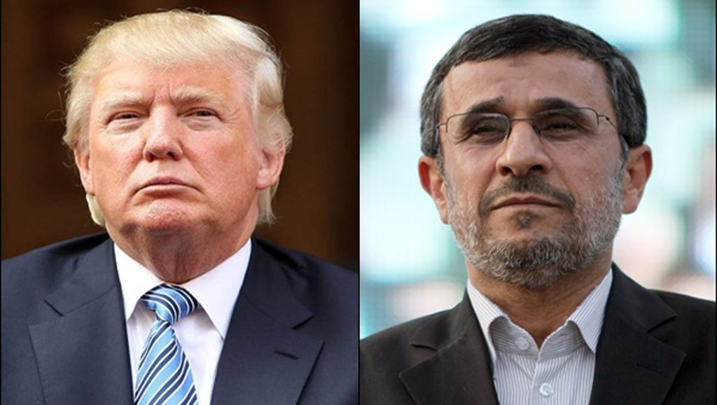 Trump - Ahmadineyad - Foto fuente web - Data Urgente