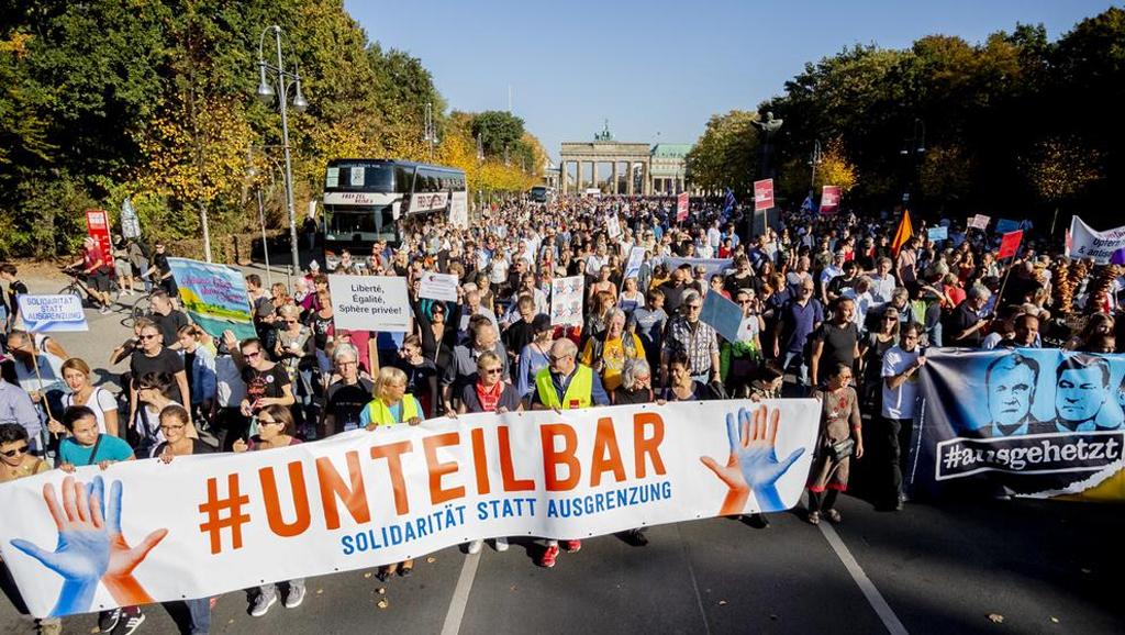 Berlín - Marcha anti racismo - Fuente foto web - Data Urgente