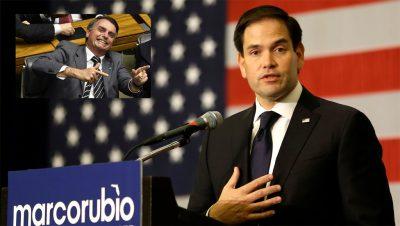 Jair Bolsonaro apunta a Marco Rubio - Fuente remix web - Data Urgente