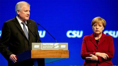 Merkel - Horst Seehofer - Refugiados - Fuente foto web - Data Urgente