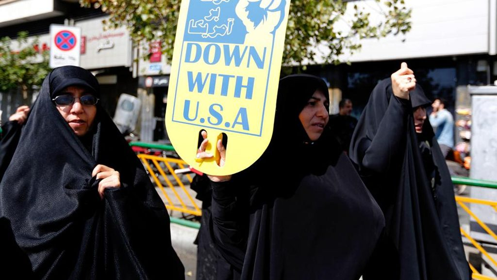 Protesta de mujeres iraníes contra EEUU - Fuente foto Str EFE - Data Urgente