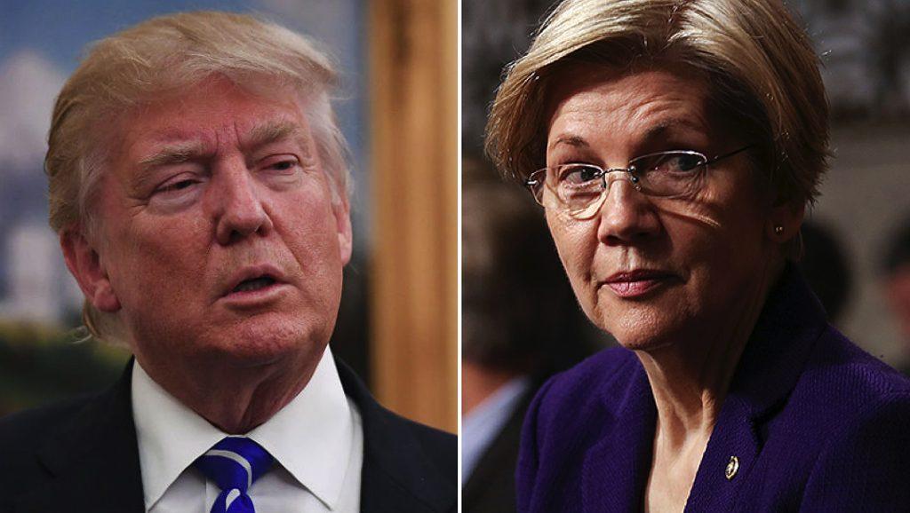 Trump - Elizabeth Warren - Fuente foto web - Data Urgente