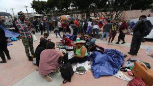 Campamento de migrantes - Tijuana - México - Fuente foto web - Data Urgente