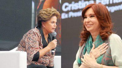 Dilma CFK - Fuente foto remix Data Urgente