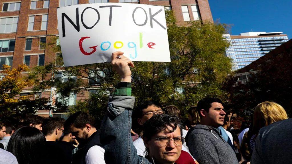 Protestas de empleados de Google - Fuente web - Data Urgente