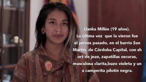 Lanka Millán - Desaparición - Fuente Moira Millán - Data UrgenteLanka Millán - Desaparición - Fuente Moira Millán - Data Urgente