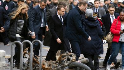 Macron - Chalecos Amarillos - Fuente foto web - Data Urgente