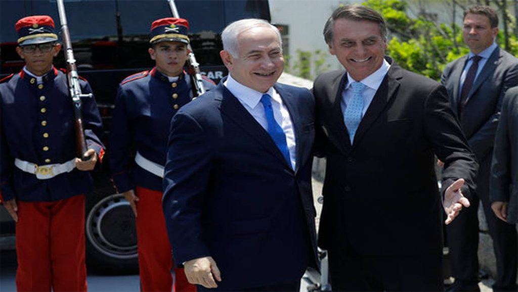 Natanyahu - Bolsonaro - Fuente foto Contexto Diario - Data Urgente