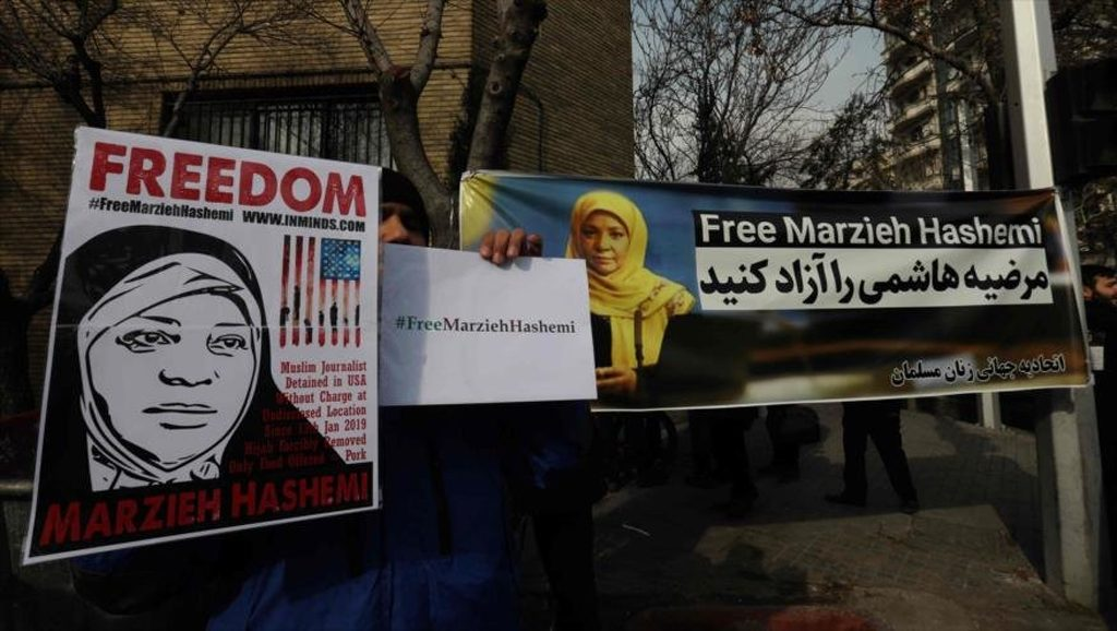 #FreeMarziehHashemi - Fuente foto Hispan TV - Data Urgente