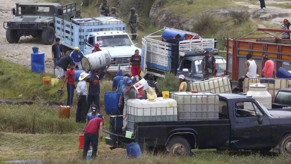 Huachicoleo - Robo de combustibles - México - Fuente foto web - Data Urgente