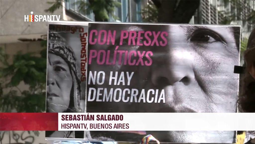 Piletazo por Milagro Sala - Fuente foto Hispan TV - Sebastián Salgado - Data Urgente