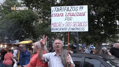 Tarifazo - Macri Argentina - Fuente captura Hispan TV - Data Urgente