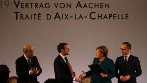 Tratado de Aquisgrán - Macrón - Merkel - Fuente foto DW - Data Urgente