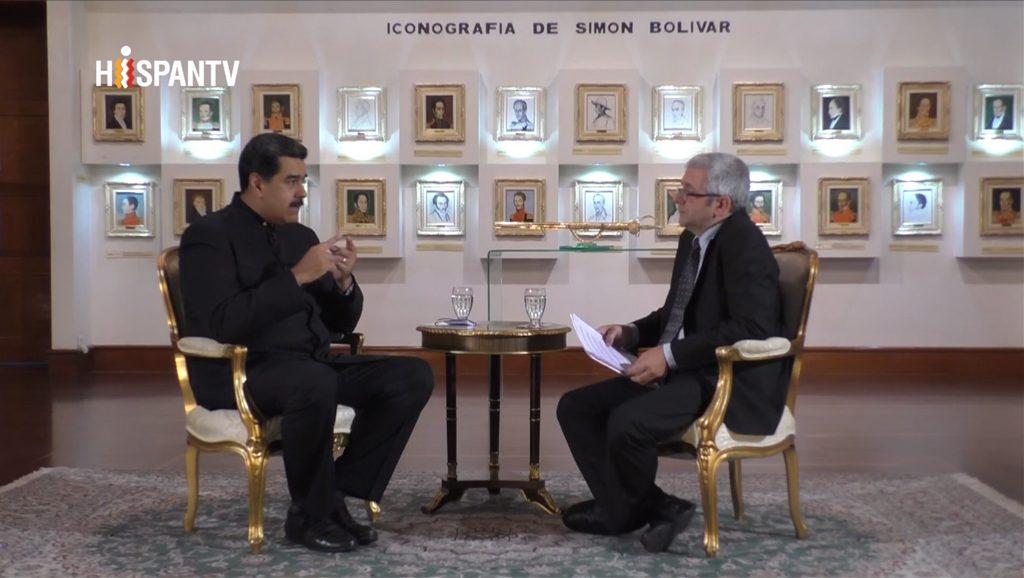 Entrevista exclusiva a Nicolás Maduro - Fuente foto Hispan TV - Data Urgente
