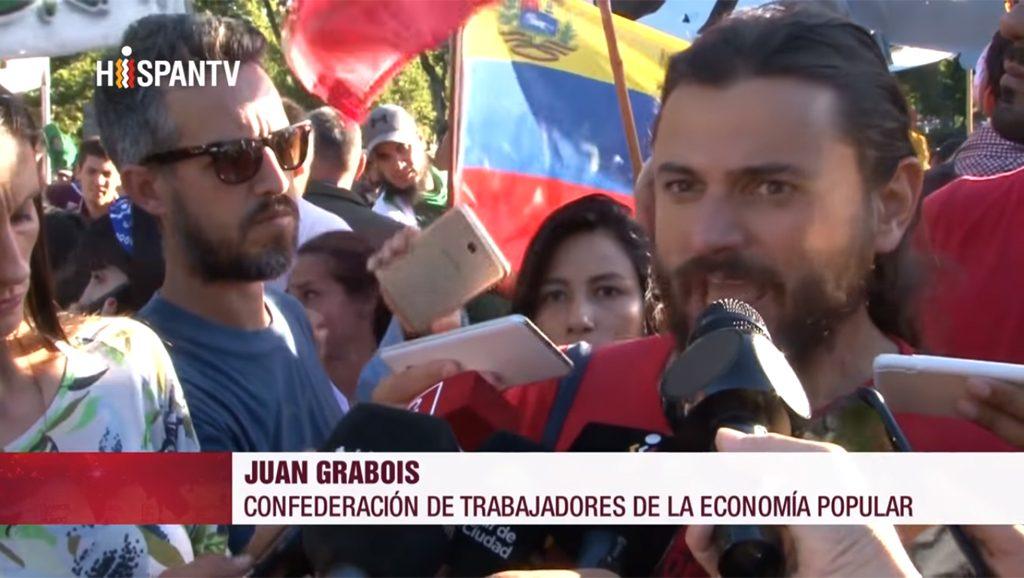Juan Grabois - Confederación de trabajadores de la economía popular - Fuente foto Hispan TV - Data Urgente
