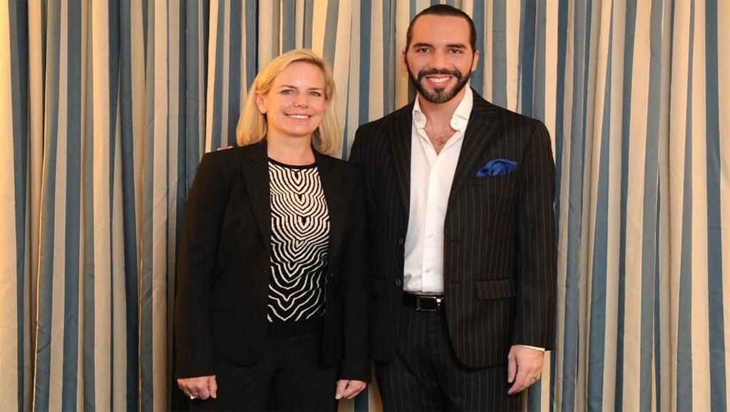 Kirstjen Nielsen y Nayib Bukele - Fuente foto web - Data Urgente