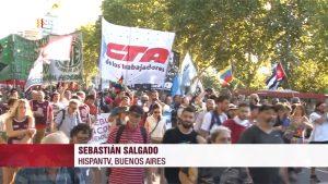 Marcha en apoyo a Venezuela - Sebastián Salgado - Hispan TV Buenos Aires - Data Urgente