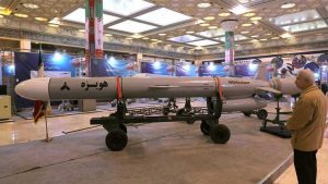 Misil defensivo de Irán - Fuente foto Twitter - Data Urgente