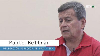 Pablo Beltrán - Delegación de Paz ELN - Colombia - Fuente foto Barricada TV - Data Urgente