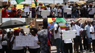 Solidaridad con Venezuela - África - Fuente foto Twitter - Data Urgente