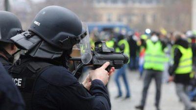Violencia policial - Chalecos amarillos - Fuente foto web - Data Urgente